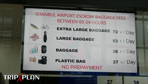 Left Luggage at Istanbul New Airport (IST)